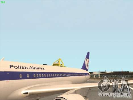 Boeing 767-300 LOT Polish Airlines para la visión correcta GTA San Andreas