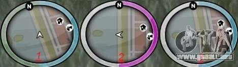 NEW GTA IV HUD 3 para GTA San Andreas segunda pantalla
