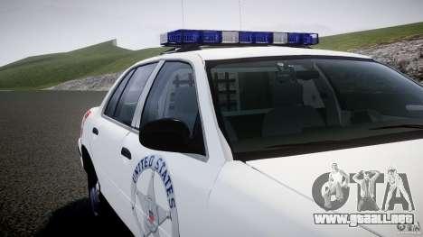 Ford Crown Victoria US Marshal [ELS] para GTA 4 ruedas