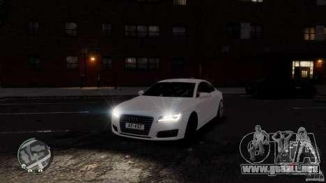 Audi A7 Sportback para GTA 4 vista lateral