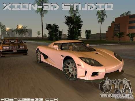 Koenigsegg CCX para GTA Vice City vista posterior