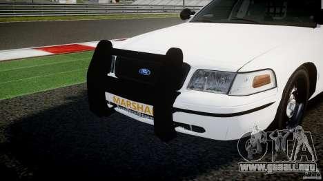 Ford Crown Victoria US Marshal [ELS] para GTA 4 vista desde abajo
