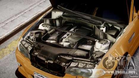 BMW M3 E46 Tuning 2001 v2.0 para GTA 4 vista hacia atrás