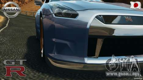 Nissan GT-R 35 rEACT v1.0 para GTA 4 vista hacia atrás