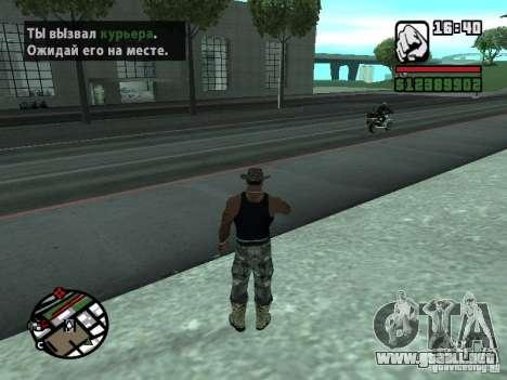 Gun Seller RUS para GTA San Andreas sucesivamente de pantalla