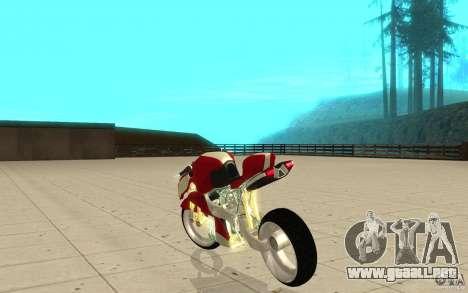 New NRG Standart version para GTA San Andreas vista posterior izquierda