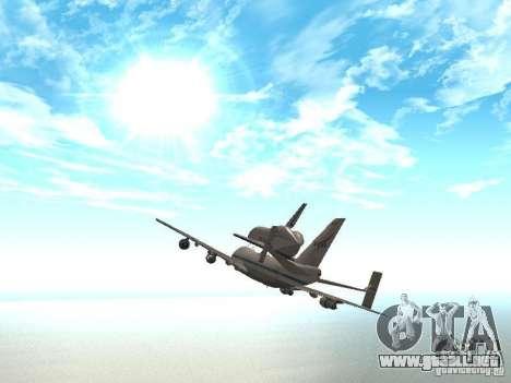 Boeing 747-100 Shuttle Carrier Aircraft para la visión correcta GTA San Andreas