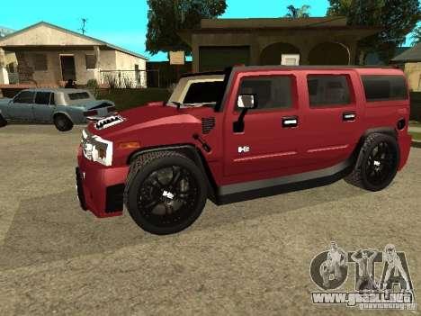 Hummer H2 Tuning para GTA San Andreas left