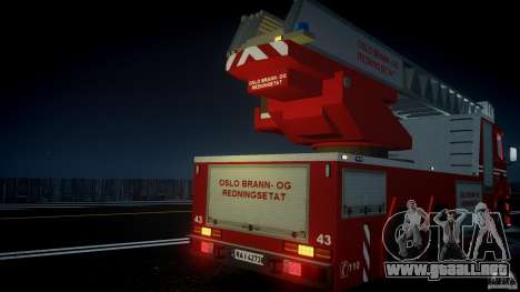 Scania Fire Ladder v1.1 Emerglights blue [ELS] para GTA motor 4