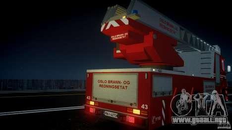 Scania Fire Ladder v1.1 Emerglights blue [ELS] para GTA motor 4