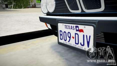 BMW 535 E28 para GTA 4 vista hacia atrás