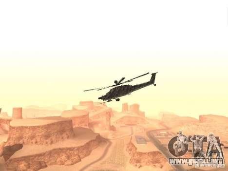 MI 28 Havok para GTA San Andreas left