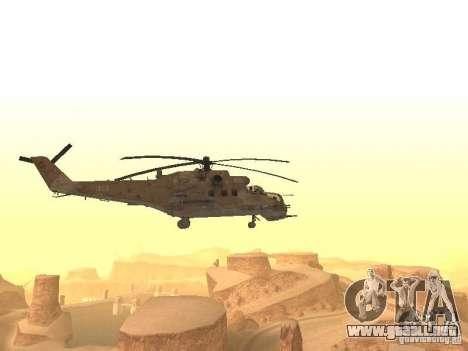Mi-24P Desert Camo para la visión correcta GTA San Andreas