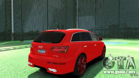 Audi Q7 v12 TDI para GTA 4 Vista posterior izquierda