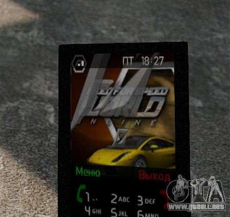 Nuevos temas para tu teléfono para GTA 4 quinta pantalla