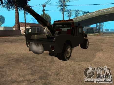 Camioneta HUMMER H1 para GTA San Andreas vista posterior izquierda
