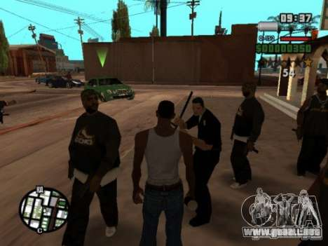 Call of Homies para GTA San Andreas sucesivamente de pantalla