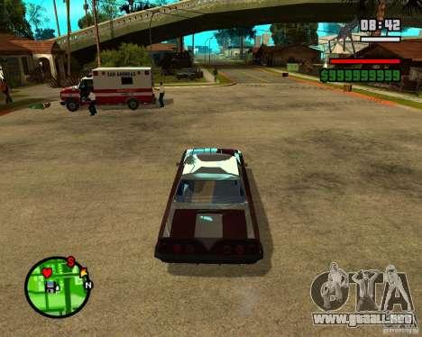 Mercury Mascarpone para GTA San Andreas vista hacia atrás