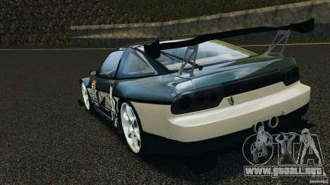 Nissan 240SX Time Attack para GTA 4 Vista posterior izquierda