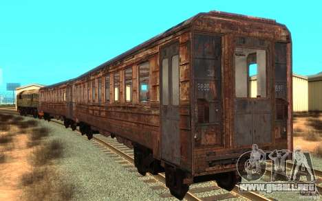 Un tren del juego s.t.a.l.k.e.r. para GTA San Andreas vista posterior izquierda