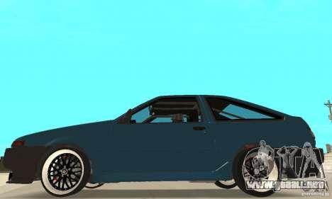 Toyota Sprinter para GTA San Andreas vista posterior izquierda