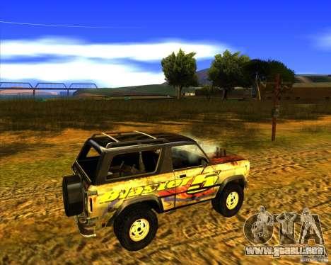 Blazer XL FlatOut2 para visión interna GTA San Andreas