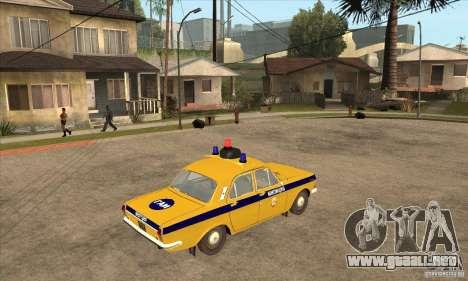 Policía 2401 Volga GAZ para la visión correcta GTA San Andreas