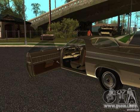 Chevrolet El Camino 1973 para la visión correcta GTA San Andreas