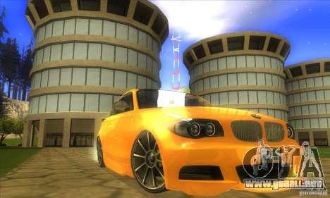 BMW 135i Coupe Custom para la visión correcta GTA San Andreas