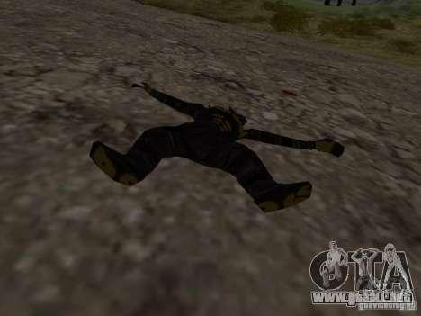 Hombre de nieve para GTA San Andreas sucesivamente de pantalla