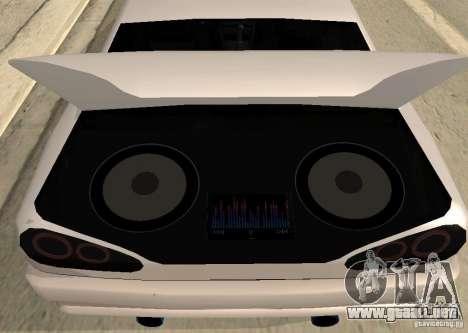 Elegy MIX v2 para GTA San Andreas vista posterior izquierda