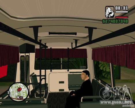 Capacidad para sentarse para GTA San Andreas segunda pantalla
