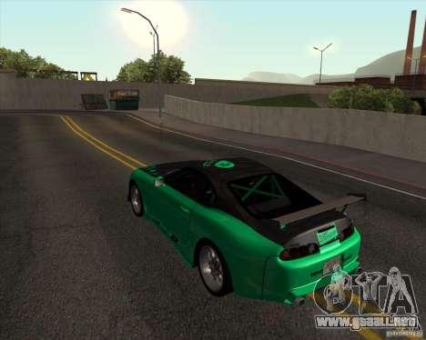 Toyota Supra ZIP style para GTA San Andreas vista posterior izquierda