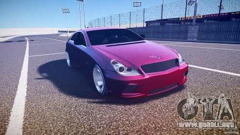 Mercedes Benz CLS Light Tuning v1.0 Beta para GTA 4 vista hacia atrás