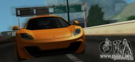McLaren MP4-12C TT Black Revel para vista inferior GTA San Andreas