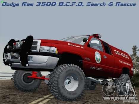 Dodge Ram 3500 Search & Rescue para GTA San Andreas