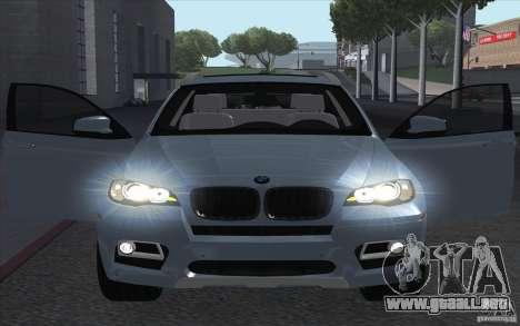 BMW X6M 2013 para la visión correcta GTA San Andreas