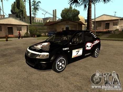 Dacia Logan Rally Dirt para vista inferior GTA San Andreas