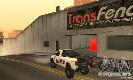 Dodge Power Wagon Paintjobs Pack 2 para GTA San Andreas vista posterior izquierda