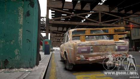 Rusty 2106 VAZ para GTA 4 vista interior