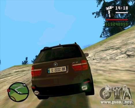 BMW X5 E70 para GTA San Andreas vista posterior izquierda