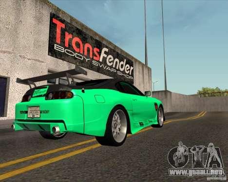 Toyota Supra ZIP style para GTA San Andreas left