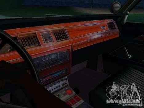 Ford Crown Victoria LTD 1992 SFPD para vista lateral GTA San Andreas