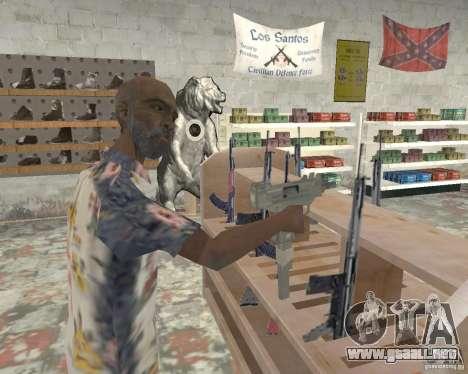 Una bulliciosa tienda Ammu-Nation v3 (Final) para GTA San Andreas tercera pantalla