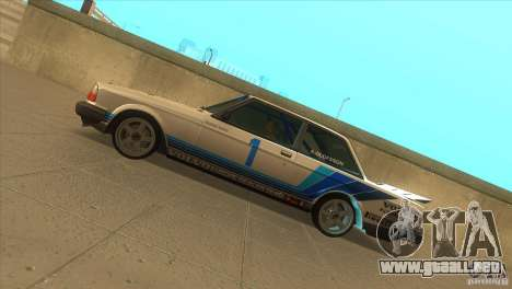 Volvo 240 Turbo Group A para GTA San Andreas left