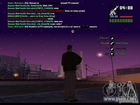 Cielo estrellado v2.0 (para SA: MP) para GTA San Andreas quinta pantalla