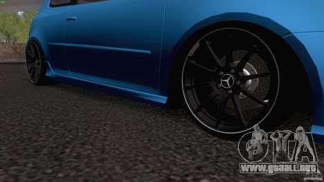 VW Golf 5 R32 2006 StanceWorks para visión interna GTA San Andreas
