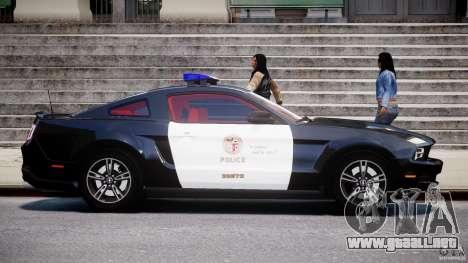 Ford Mustang V6 2010 Police v1.0 para GTA 4 vista interior