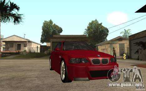 BMW M3 CSL para GTA San Andreas vista hacia atrás