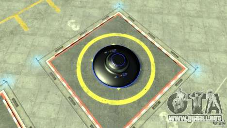 UFO neon ufo blue para GTA 4 visión correcta
